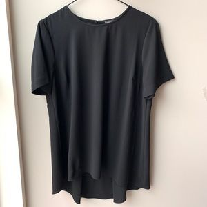 Vince Camuto short sleeve black keyhole top S XS